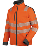 High-visibility softshell jacket Neon EN 20471 3 orange anthracite